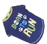 Hunde - Sommer - Baumwolle Blau - T-shirt - XS / S / M