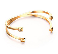 Women's Fashion Cross Stainless Steel Cuff Bracelet