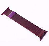 Magnet Lock Milanese Loop Stainless Steel leather loop Bracelet Strap Band for Apple Watch 42mm 38mm (Purple/Gray)
