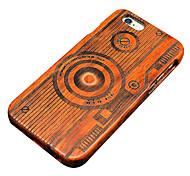 pear Câmera de madeira carving caso do iphone duro tampa traseira de proteção para iphone se 5s / iphone / iphone 5