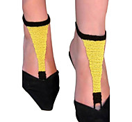 sandálias de algodão crochet feito à mão das mulheres simples em cadeia tornozeleira sandálias descalças