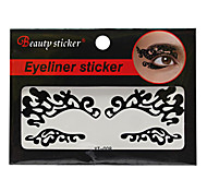 Abstract Fashion Lace Hollow Black Face Sticker YT-008