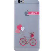 TPU Material Glow in the Dark Translucent Bicycle Relief Soft Protection Phone Case for iPhone 5/5S/SE