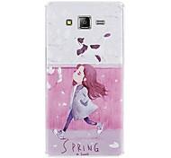 Para Funda Samsung Galaxy Congelada / En Relieve Funda Cubierta Trasera Funda Dibujos Suave Silicona J5