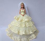 Matrimonio Abiti Per Barbie Doll Verde Abiti