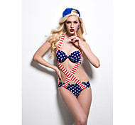 Flag Paragraph Piece Swimsuit Bikini