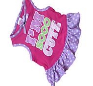 Hunde Kleider Rose Hundekleidung Sommer Gepunktet / Herzen