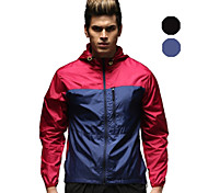 Vansydical Men's Ultraviolet Resistant Fitness Tops Red / Blue / Dark Pink