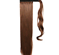 Brown 60CM Synthetic High Temperature Wire Wig Straight Hair Ponytail Color 4A/30B