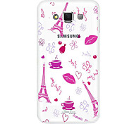 TPU Transparent Hollow Crtoon Mobile Phone Shell for Samsung E7