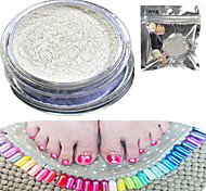 1 Set Nail Art Magical Blue Glitter Pearl Powder And Eye Shadow Brush Set Nail Beauty HCL