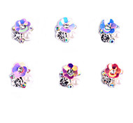 6PCS  Patterns AB alloy jewelry  Random Color