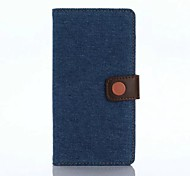 Full Body Case Solid Color Textile Soft Denim FabricCase Cover ForSonySony Xperia XP / Sony Xperia XA / Sony Xperia Z5 / Sony Xperia Z5