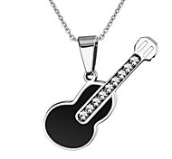 Unisex Fashion Guitar Style Titanium Pendant for Necklace