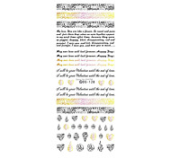 2pcs New Water Transfer Nails Art Sticker English Letter Little Element Nail Wrap Sticker Tips Manicura
