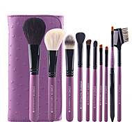 10 Wool Make Up Brush Set Of Complete Brush Tool For Beginners
