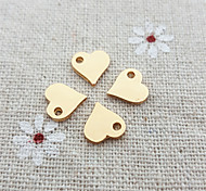 20Pcs Simple Heart Necklace Charm for DIY Jewelry Making  (8*9mm)