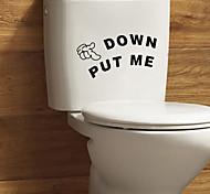 Слова и фразы Наклейки Простые наклейки Декоративные наклейки на стены / Наклейки на холодильник / Наклейки для туалета,PVC материал