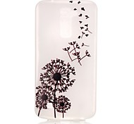 Dandelion Pattern Pattern Relief Glow in the Dark TPU Phone Case for LG K10/K8/K7/K5