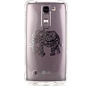 Back Pattern Elephant TPU Soft Luxury Bronzing Case Cover For LG LG K10 / LG K8 / LG K7