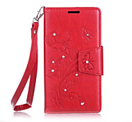 Butterfly Flower Diamond Flip Leather Cases Cover For SAMSUNG Galaxy Grand Prime Strap Wallet Phone Bags