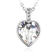 Necklace Pendant Necklaces / Pendants Jewelry Daily / Casual Fashionable Crystal White / Pink 1pc Gift