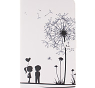 PU Leather Material Couple Dandelion Pattern Tablet Sleeve for Galaxy Tab T280/T350/T377/T550/T560/T580/T815