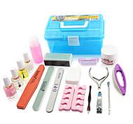herramientas de manicura 1 set con la caja de herramientas