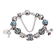 Bracelet Charmes pour Bracelets / Bracelets Rigides / Bracelets de rive / Bracelets en Argent Alliage / Strass / Plaqué argentForme
