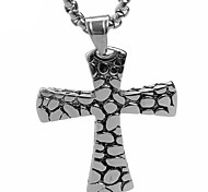 Retro Titanium Cross Pendant Necklace