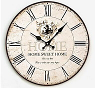 Continental Wooden Fashion Watches And Clocks, Electronic Clock Wooden Home Wall Clock Frameless Diy