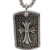 The Cross Pendant Necklace in Titanium Card