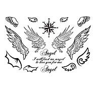 5 Tatuajes Adhesivos Series de Joya / Series de Animal / Series de Flor / Series de Tótem / Otros / Serie de dibujos animadosNon Toxic /