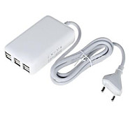 6 USB Ports Multi Ports Home Charger with Cable For iPad / For Cellphone / For iPhone / For Other Pad