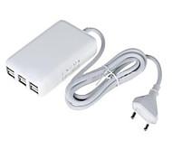 6 USB-Anschlüsse Multi-Ports EU Stecker Hauptaufladeeinheits mit Kabel Für iPad / Für Mobiltelefon / Für andere Pad / For iPhone5V , 1A /