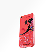 dpt® Butterfly Girl logo TPU Soft Back Cover for iPhone 5C