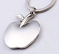 Apple Shape  Metal Silver Keychain Toys
