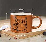 copo caneca de cerâmica grande caneca de café características pintados à mão restaurante personalizado chá retro copo 300ml