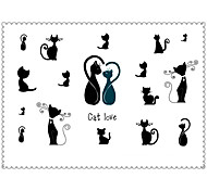 5PCS Fashion Cat Body Art Waterproof Temporary Tattoos Sexy Tattoo Stickers (Size: 3.74'' by 5.71'')