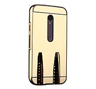 Для Кейс для Motorola Зеркальная поверхность Кейс для Бампер Кейс для Один цвет Твердый Металл Motorola Мото G3