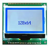 12864-cog-1 LCD-Modul 5v12864 mit Schrift 54x50 Serien Farben blau grau Bildschirm