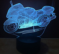 New Pattern Motorcycle 3 D Lamp  Touch LED Vision Lamp Gift Decoration Atmosphere Desk Lamp Color-Changing Night Light