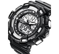 SANDA Masculino Relógio Esportivo Relogio digital Quartzo Digital Quartzo JaponêsLCD Calendário Impermeável Dois Fusos Horários alarme
