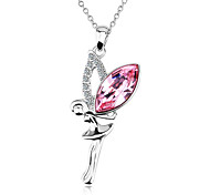 Women's Austrian Crystal Girl Shape Pendant for Necklace