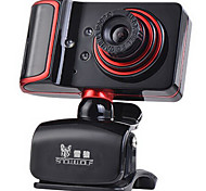 USB 2.0 de webcam CMOS de 1,3 milhões de 1280 * 960 45fps vermelho / preto