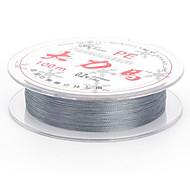 100M / 110 Yards Monofilamento Argento 120LB 0.2 mm Per Pesca dilettantistica