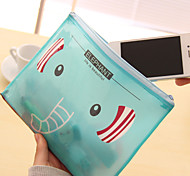 Korean Stationery Cute Cartoon B6 Zipper Pen Bags Ziplock Bags(B6 Random Colors)
