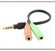 YONG WEI® Audio jack de 3.5mm-Audio jack de 3.5mm 0,05 m (0.15Ft)