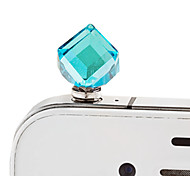 Diamond Square Diamond Crystal Mobile Phone Dust Plug