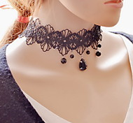 Necklace Choker Necklaces / Pendant Necklaces Jewelry Daily / Casual Sexy / Fashion Lace / Fabric Black-White 1pc Gift